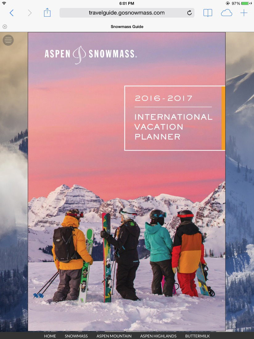 Aspen Snowmass Travel Guide Slide 1