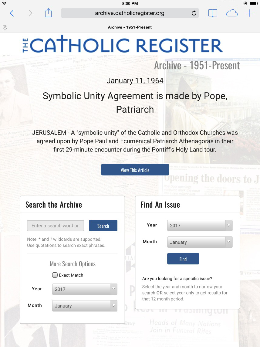 Catholic Register